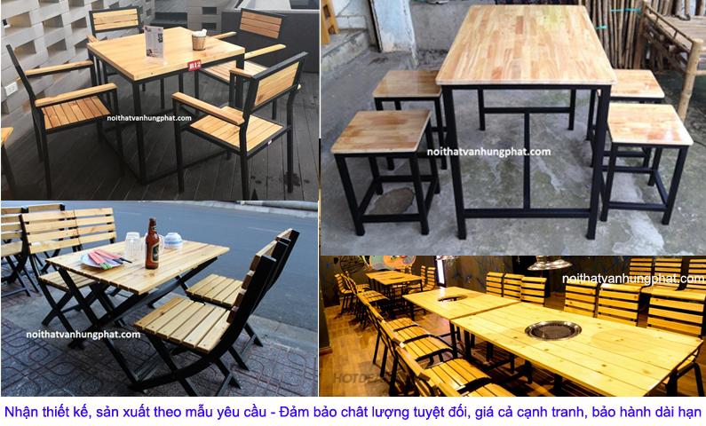 Bàn ghế cà phê, nhà hàng