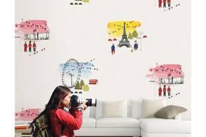 Sắc màu tuổi thơ trong giấy dán tường phòng bé gái