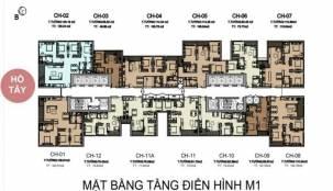 Thiết kế mặt bằng căn hộ tòa M1 Vinhomes Liễu Giai - Metropolis