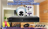 TRỌN BỘ CAMERA HDTVI VANTECH VPH-1663TVI+ VP-111TVI