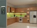Tủ bếp gỗ sồi nga MS 0011