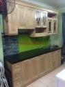 Tủ bếp gỗ sồi nga MH 202