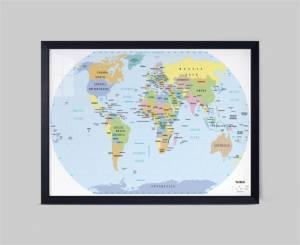 khung tranh bản đồ