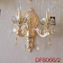 Đèn đồng hoa pha lê nến đôi DF8066/2
