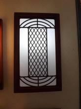 Đèn ốp tường khung gỗ chữ nhật 948