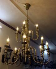 Đèn chùm đồng 2 tầng