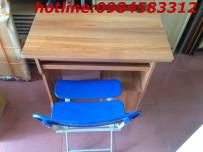 bàn BVT80 TỦ màu vân xoan +ghế gấp 3 nan