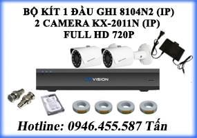 Bộ kít 4 Camera KX-2011N (IP)