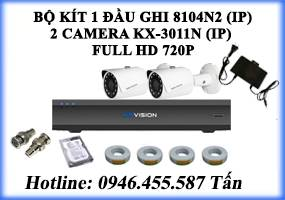 Bộ kít 2 Camera KX-3011N (IP)