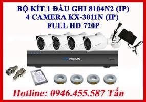Bộ kít 4 Camera KX-3011N (IP)