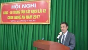 Trung tâm Sát hạch lái xe CGĐB Nghệ An tổ chức Hội nghị CBVC-LĐ năm 2017