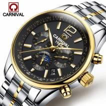 Đồng hồ đeo tay nam hàng hiệu CARNIVAL 8702G-02 mặt kính Sapphire