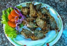 Thịt lơn rừng nướng