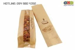 In túi giấy kraft đựng bánh mỳ đẹp, in nhanh giá rẻ tại Ngã Tư Sở