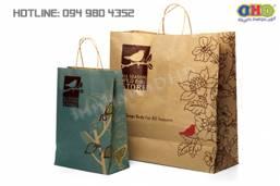Làm túi giấy kraft bán hàng đẹp, chuyên nghiệp giá rẻ Hà Nội