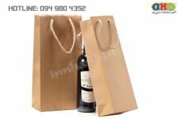 Địa chỉ làm túi giấy kraft đựng rượu chuyên nghiệp, nhanh giá rẻ tại Hà Nội