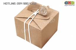 Làm hộp đựng bánh giấy kraft độc đáo giá rẻ