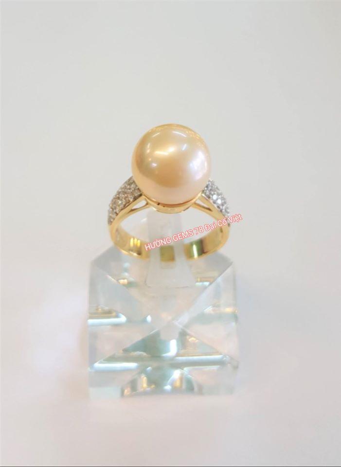 Nhẫn vàng 14k Ngọc Trai Biển