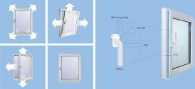 Cửa sổ nhựa mở quay, lật và mở song song
