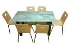 Bộ bàn ăn mặt kính BACN1400+ GA01