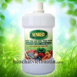 Nước rửa rau quả thực phẩm SUNRED