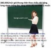 Bảng viết phấn Hàn Quốc khung nhôm có khung chân di động