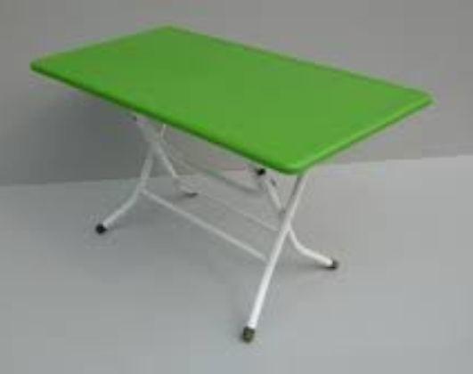 1 Bàn nhựa mầm non chân sắt gập chưa gồm ghế