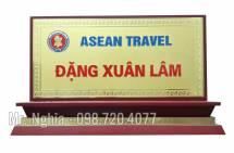 Biển Chức Danh Để Bàn Đồng CD2