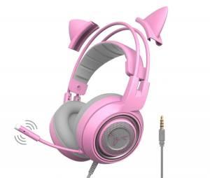 Tai nghe chơi game Somic G951S pink
