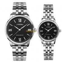 Đồng hồ cặp dây thép mặt trắng (Có bán lẻ)