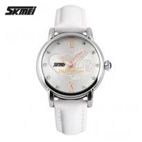 Đồng hồ nữ SKMEI 9059 dây da (trắng)