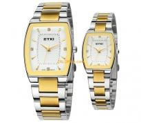 Đồng hồ cặp EYKI 8718 dây thép không gì (vàng)