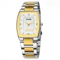 Đồng hồ nam EYKI 8718 dây thép không gì (vàng)