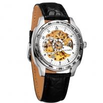 Đồng hồ cơ OUYAWEI dây da (đen)