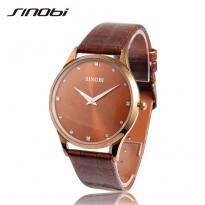 Đồng hồ nam dây da sinobi Si002 (nâu)