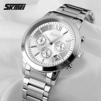 Đồng hồ nam dây thép SKMEI SK087 (mặt trắng)