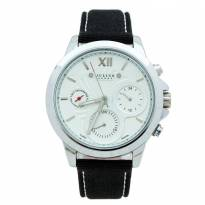 Đồng hồ nam 6 kim JULIUS JAH-055 dây da (mặt trắng)