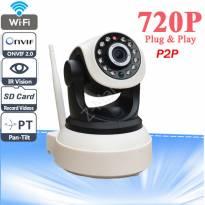 Camera IP Wifi 720P (trằng đen)