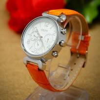 Đồng hồ nữ JULIUS 06 kim JA-850 dây da (cam)