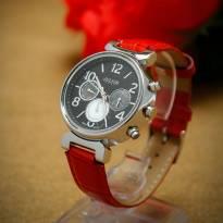 Đồng hồ nữ JULIUS 06 kim JA-850 dây da (đỏ)