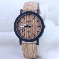 Đồng hồ nam thời trang dây da vân gỗ (nâu)
