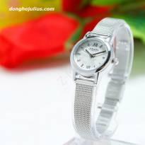 Đồng hồ nữ JULIUS JA-887 dây thép (trằng bạc)