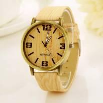 Đồng hồ thời trang dây da vân gỗ