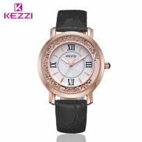 Đồng hồ nữ Kezzi dây da (đen)