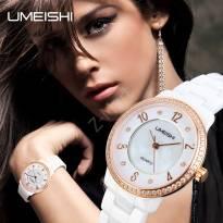 Đồng hồ nữ UMEISHI dây đá kính sapphire (trắng)