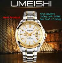 Đồng hồ nam UMEISHI kính Sapphire (vàng)