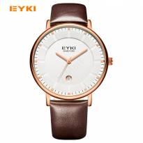 Đồng hồ nam EYKI 1029 dây da (nâu)