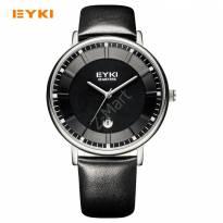 Đồng hồ nam EYKI 1029 dây da (đen)