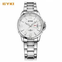 Đồng hồ nam EYKI 2016 dây thép (tráng bạc)