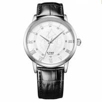Đồng hồ nam EYKI EY0049 dây da (đen)